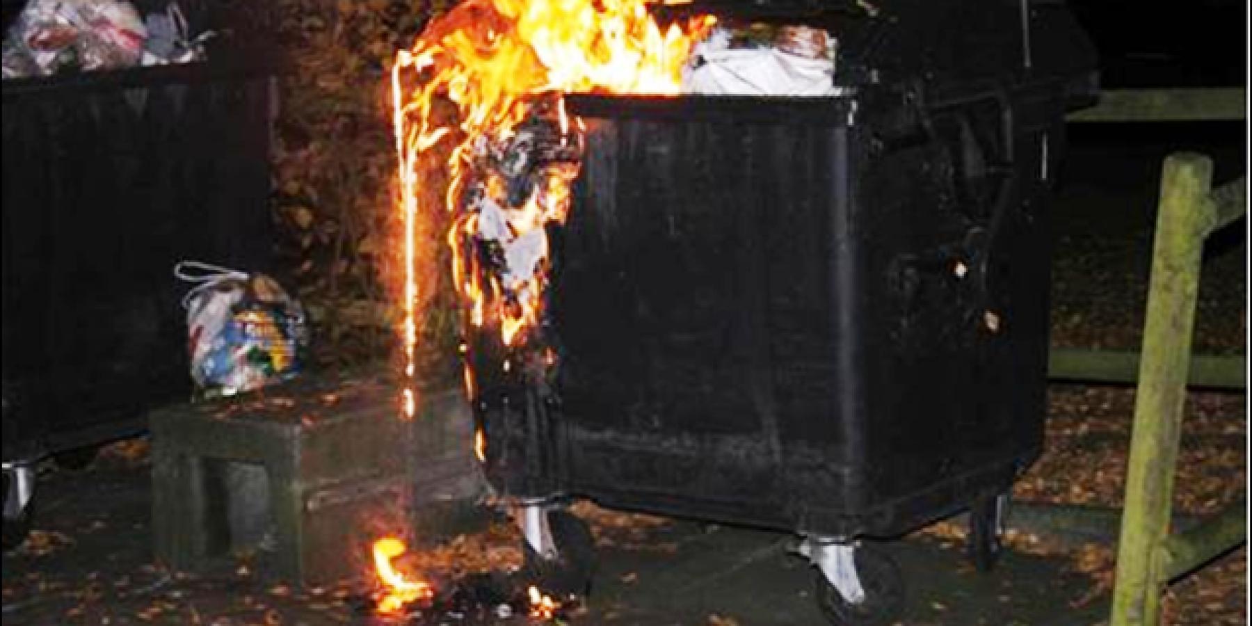 Mülltonnen angezündet – Haus und Käfer beschädigt