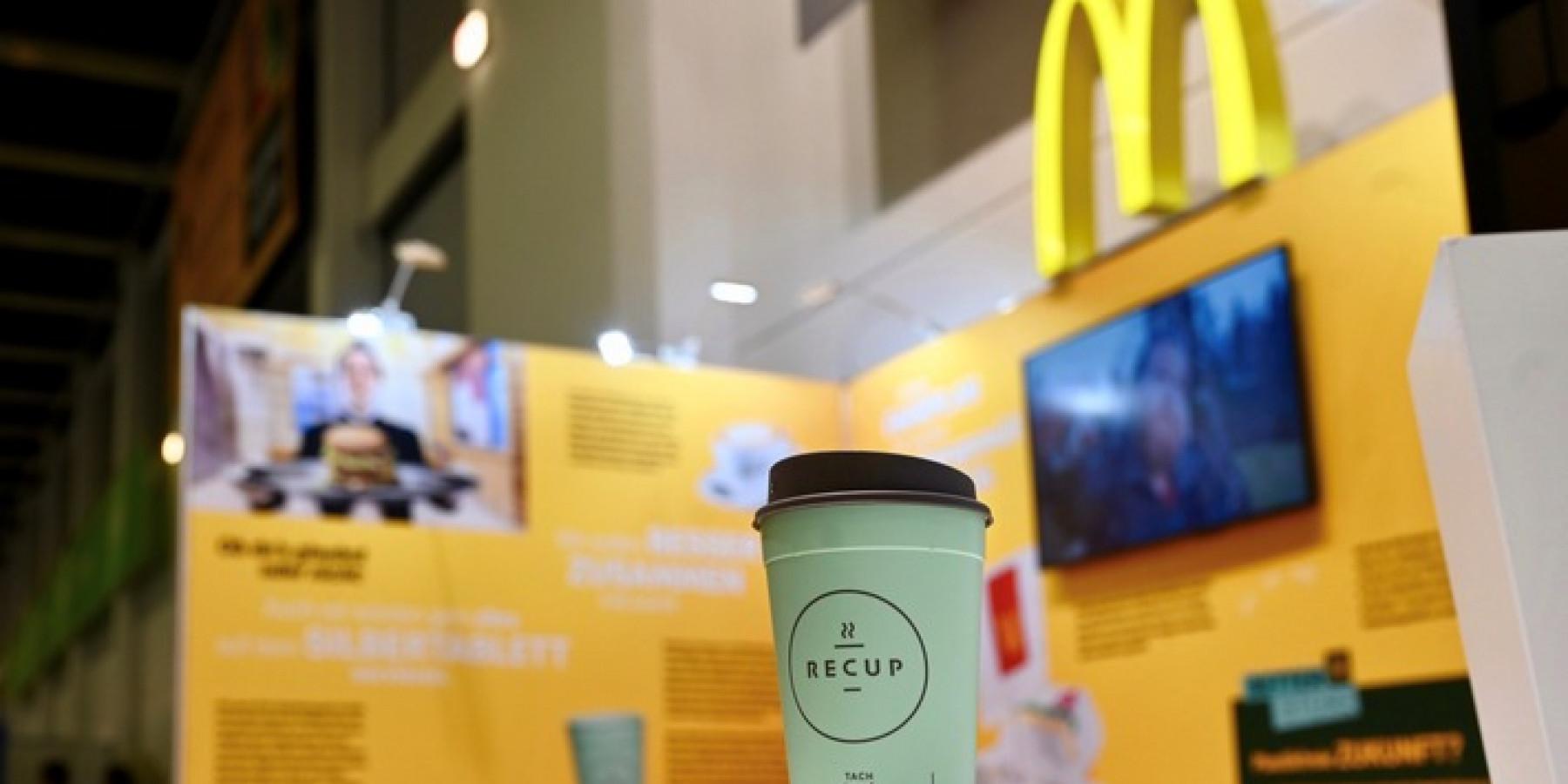 McDonald's setzt für Coffee-to-go in München auf Pfandbecher