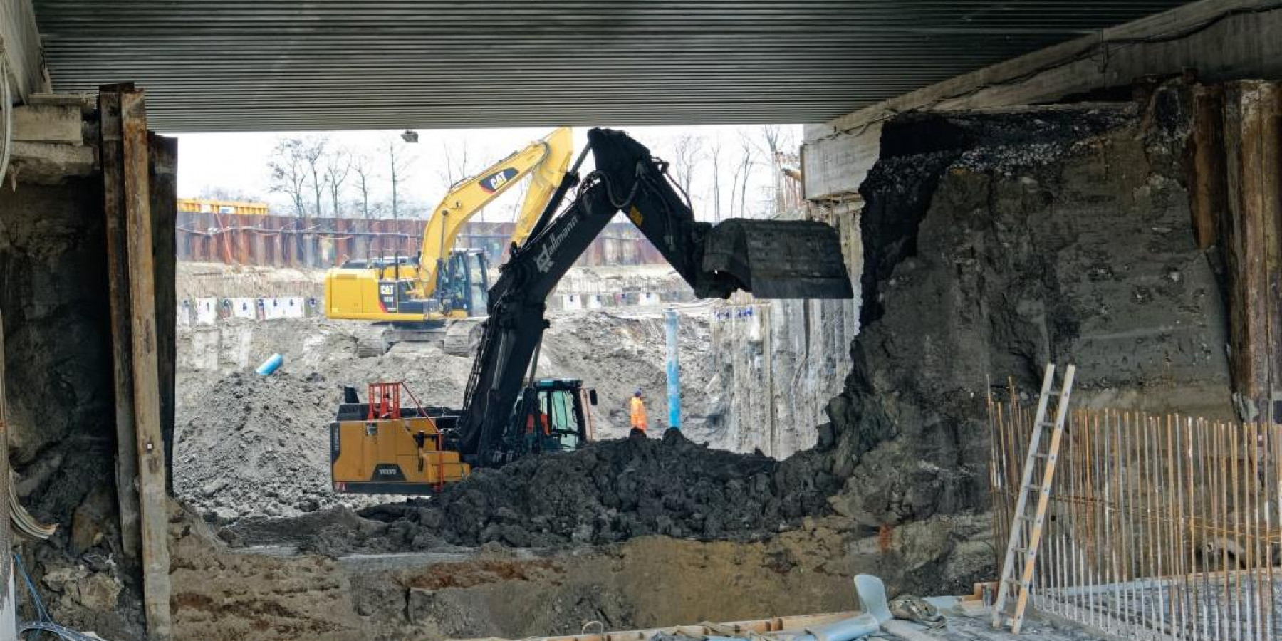 Heroldstraße: Durchstich an der Bahnunterführung