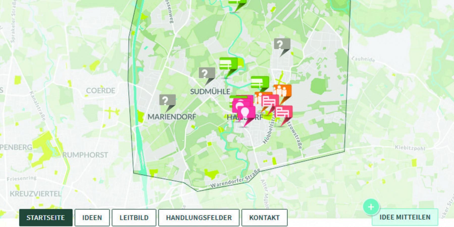 Stadtteilkonzept für Handorf, Gelmer, Mariendorf, Sudmühle: Online-Beteiligungsverfahren startet