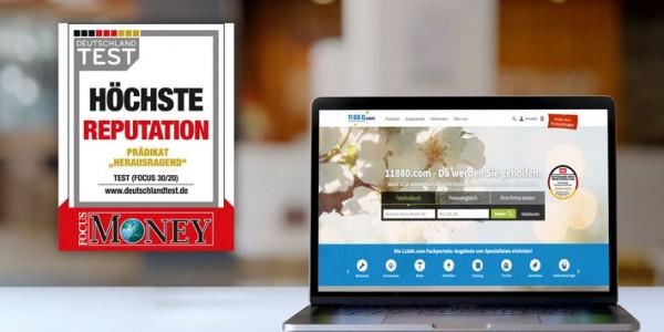 """11880 Solutions AG ist mit dem renommierten Siegel """"Höchste Reputation"""" ausgezeichnet"""