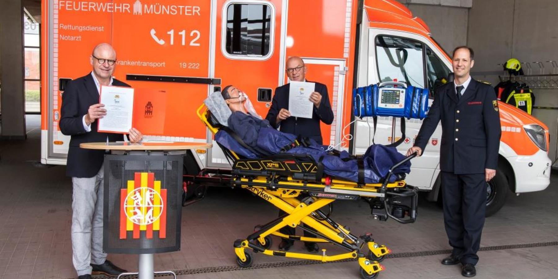 Stadt Münster und Universitätsklinikum kooperieren bei digitaler Notfallversorgung im Rettungsdienst