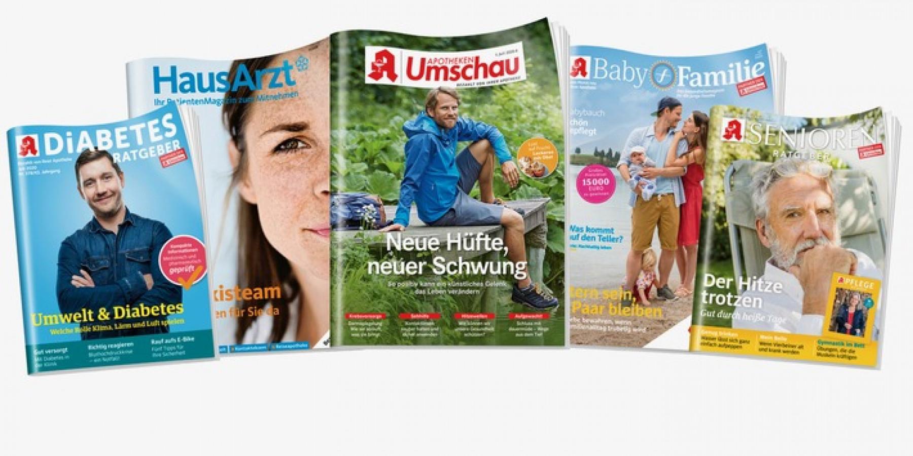 Apotheken Umschau steht mit 18,71 Mio. Lesern an der Spitze des deutschen Lesermarkts