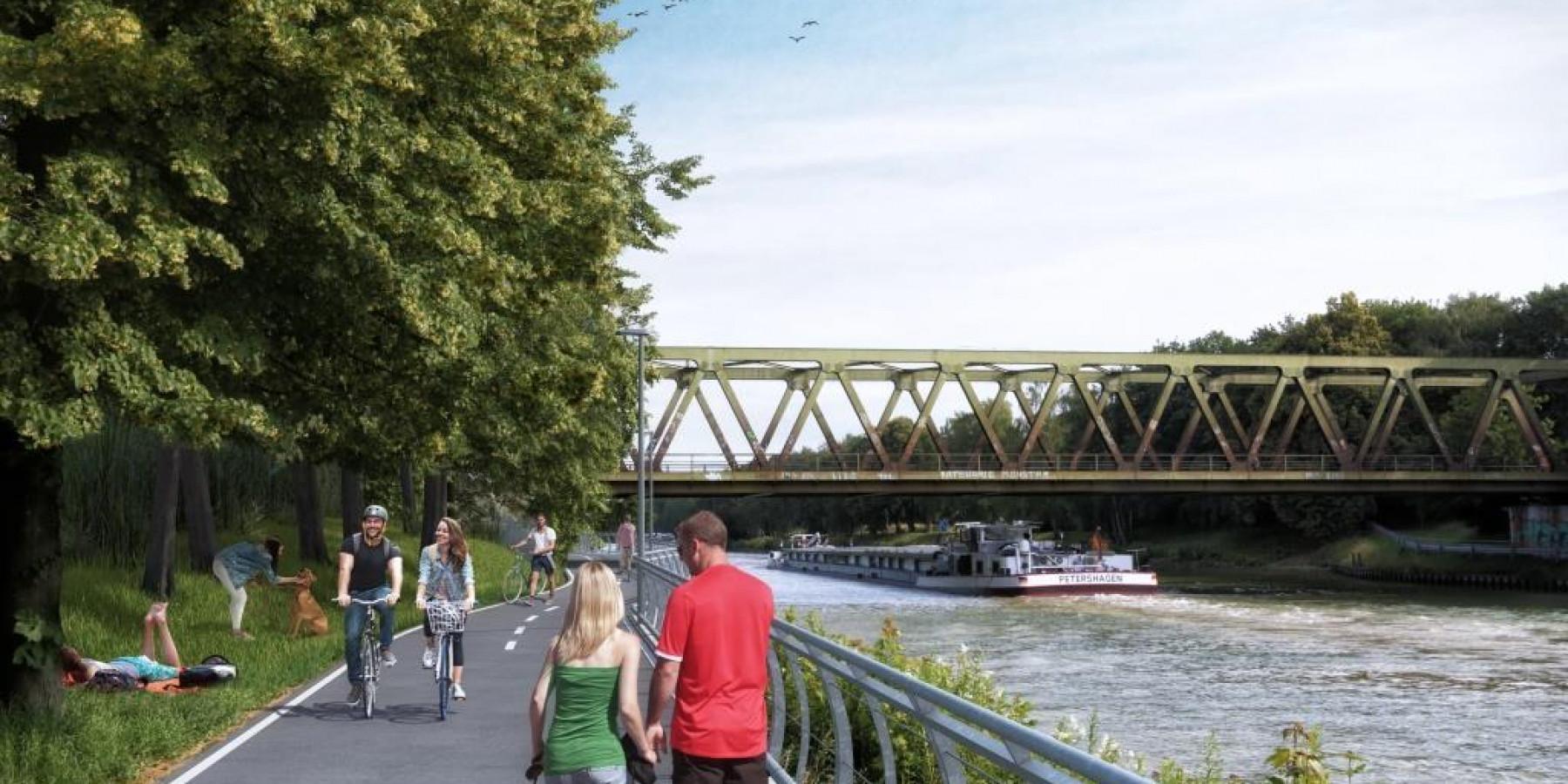 Kanalpromenade: 22 Kilometer bereits durchgeplant